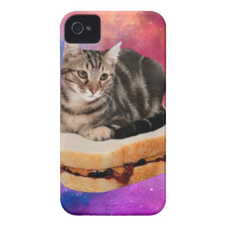 Coques iPhone 4 Case-Mate chat de pain - chat de l'espace - chats dans
