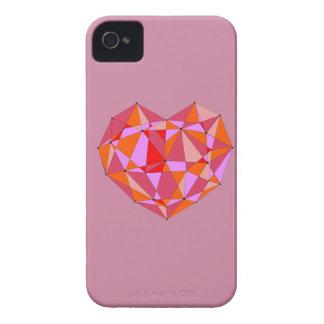 Coques iPhone 4 Case-Mate Coeur géométrique