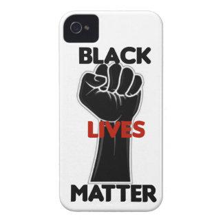 Coques iPhone 4 Case-Mate Droites noires d'égalité de matière des vies