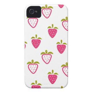 Coques iPhone 4 Case-Mate Fraise rose mignonne