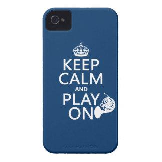 Coques iPhone 4 Case-Mate Gardez le calme et le jeu sur (klaxon) (toute