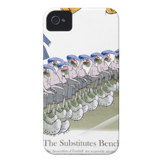 Coques iPhone 4 Case-Mate le football substrate des bleus