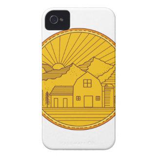 Coques iPhone 4 Case-Mate Ligne mono de ferme de grange de Chambre de cercle