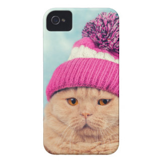 Coques iPhone 4 Case-Mate Miscellaneous - Cat With Woolly Hat Ten