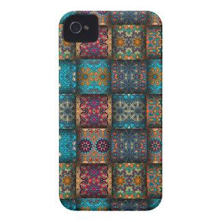 Coques iPhone 4 Case-Mate Patchwork vintage avec les éléments floraux de