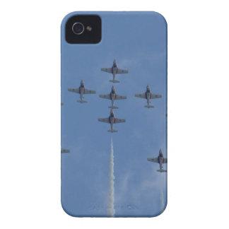 Coques iPhone 4 Case-Mate Turboréacteurs canadiens de tuteur d'équipe de vol