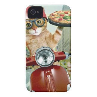 Coques iPhone 4 chat de pizza - chat - la livraison de pizza