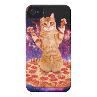 Coques iPhone 4 chat de pizza - chat orange - espacez le chat