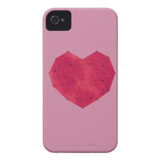 Coques iPhone 4 Coeur géométrique