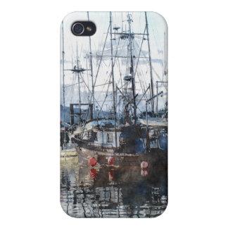 Coques iPhone 4 Coque iphone pour aquarelle d'art de marina de