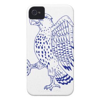 Coques iPhone 4 dessin de marche Pointu-shinned de faucon