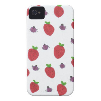Coques iPhone 4 Fraises et Madame Bugs Fruity Pattern