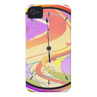 Coques iPhone 4 Horloge pourpre de minuit de jazz