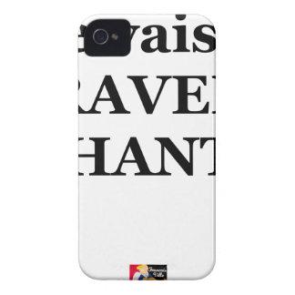 Coques iPhone 4 Je vais à TRAVERS CHANTS - Jeux de Mots