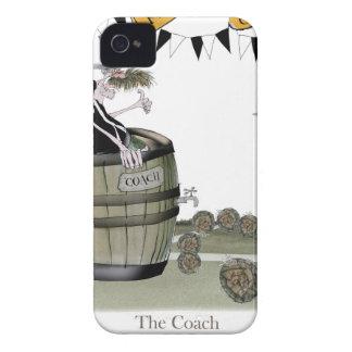 Coques iPhone 4 noir du football + entraînement blanc d'équipe