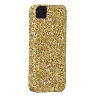 Coques iPhone 4 Parties scintillantes étincelantes d'or