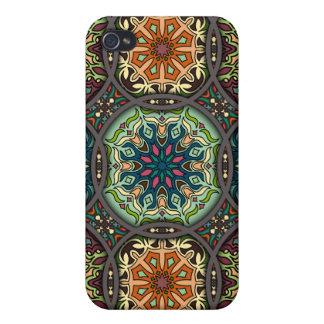 Coques iPhone 4 Patchwork vintage avec les éléments floraux de