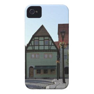 Coques iPhone 4 Scène bavaroise de coin de la rue de ville