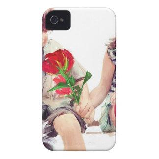 Coques iPhone 4 un rose un chiot et un baiser