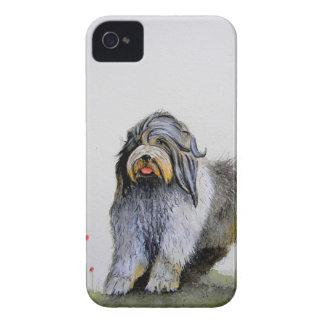 Coques iPhone 4 Vieux chiot et pavots anglais de chien de moutons