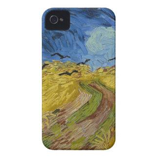 Coques iPhone 4 Vincent van Gogh - champ de blé avec la peinture