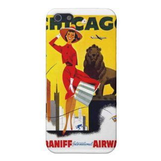 Coques iPhone 5 Affiche vintage de Chicago