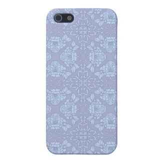 Coques iPhone 5 Assez, motif Girly et floral - bleu-clair, pourpre