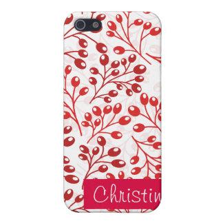 Coques iPhone 5 Baies rouges mignonnes d'automne