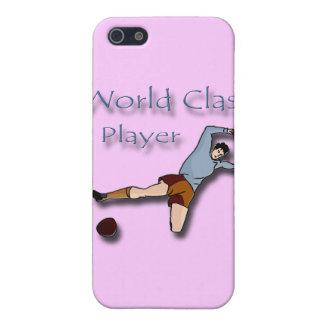 Coques iPhone 5 Bleu de joueur de classe du monde