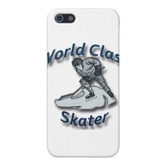 Coques iPhone 5 Bleu de patineur de classe du monde