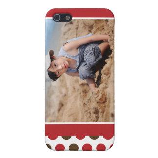 Coques iPhone 5 Cas de la coutume iPhone4 de photo de Polkadot