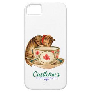Coques iPhone 5 Case-Mate Affiche vintage de tasse de thé et de chaton pour
