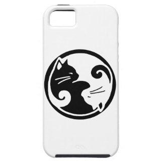 Coques iPhone 5 Case-Mate Cas de l'iPhone 5/5S de chats de Yin Yang