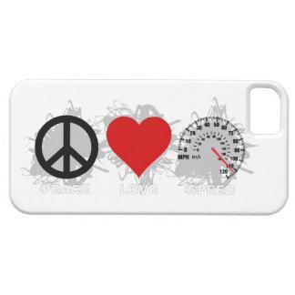 Coques iPhone 5 Case-Mate Cas de l'iPhone 5 d'emblème de vitesse d'amour de