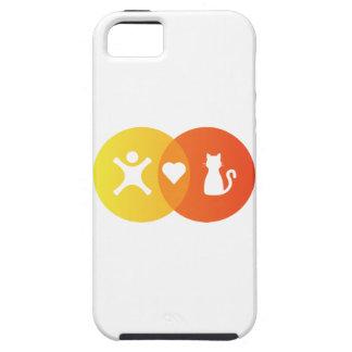 Coques iPhone 5 Case-Mate Diagramme de Venn de chats de coeur de personnes