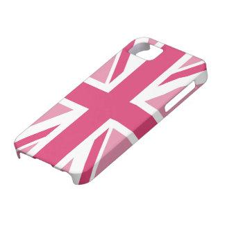 Coques iPhone 5 Case-Mate ~ d'Union Jack dans des roses Girly
