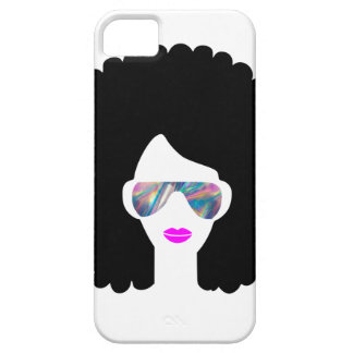 Coques iPhone 5 Case-Mate fille Afro d'hologramme