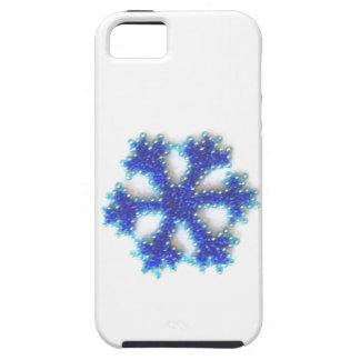 Coques iPhone 5 Case-Mate Flocon de neige bleu de perle