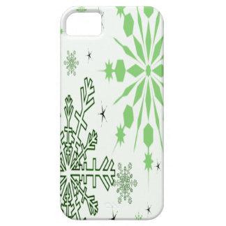 Coques iPhone 5 Case-Mate Flocons de neige verts