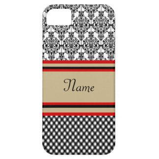 Coques iPhone 5 Case-Mate Monogramme noir de damassé