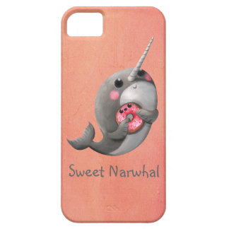 Coques iPhone 5 Case-Mate Narwhal timide avec le beignet