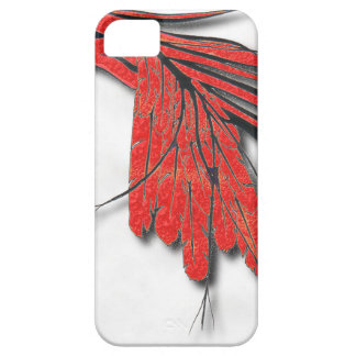 Coques iPhone 5 Case-Mate plume d'oiseau rouge