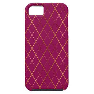 Coques iPhone 5 Case-Mate Prune à motifs de losanges
