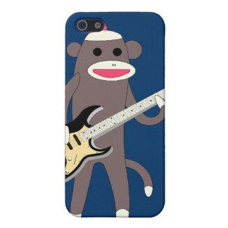 Coques iPhone 5 Cognez les roches de singe avec la guitare