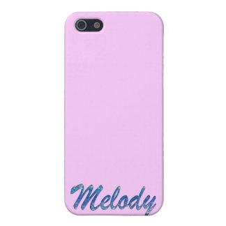 Coques iPhone 5 Couverture d'iPhone marquée par nom de mélodie