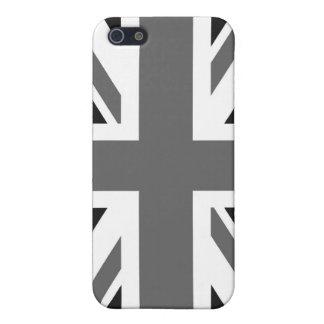 Coques iPhone 5 Drapeau britannique noir et blanc