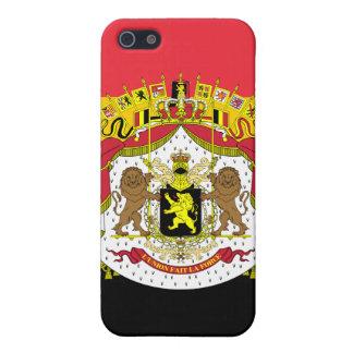 Coques iPhone 5 Drapeau de mod du manteau de la Belgique du cas de