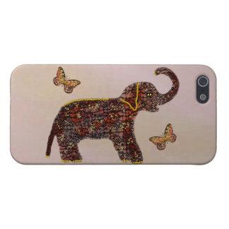 Coques iPhone 5 Éléphant rose exotique
