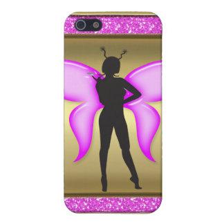 Coques iPhone 5 Imaginaire féerique en rose et or