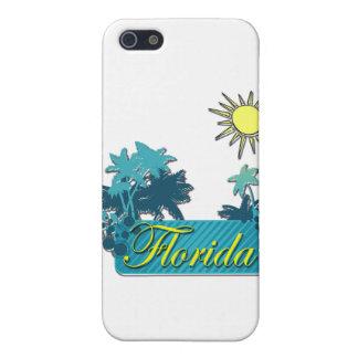 Coques iPhone 5 Jaune de paumes et de Sun de la Floride
